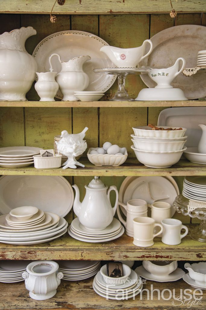 ironstone in cupboard