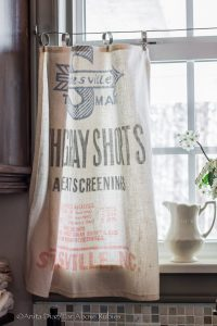 grain sack curtains