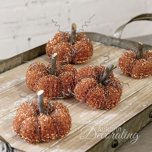 Copper Creations Mini Pumpkins