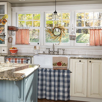 No-Sew Curtains for Fall