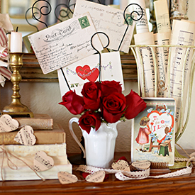 Decorating with Vintage Valentines