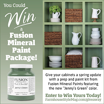 Go Green with Our Fusion Mineral Paint Giveaway!